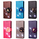 cheap Cell Phone Cases & Screen Protectors-Case For Lenovo Lenovo K10 / K6 Note Wallet / Card Holder / Rhinestone Full Body Cases Flower Hard PU Leather for Lenovo K10 / Lenovo K6 Note / Lenovo K6