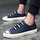 זול נעלי ספורט לגברים-בגדי ריקוד גברים נעלי נוחות PU סתיו נעלי ספורט שחור / אדום / כחול