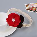 baratos Vestidos para Bebês-Infantil Para Meninas Básico Diário Floral Estilo Floral Raiom Acessórios de Cabelo Vermelho / Rosa Tamanho Único / Bandanas