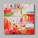 abordables Cuadros de Animales-Pintura al óleo pintada a colgar Pintada a mano - Abstracto Contemporáneo / Modern Lona