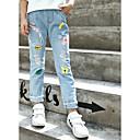 זול מכנסיים וטייץ לבנות-ג'ינס כותנה פרנזים / חור / דפוס דפוס חגים פעיל / סגנון רחוב בנות ילדים