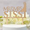 ieftine Vârfuri de Tort-Vârfuri de Tort Temă Clasică / Nuntă Iubire Lemn / Bambus Nuntă / Aniversare cu 1 pcs OPP