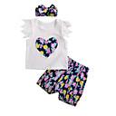ieftine Set Îmbrăcăminte Bebeluși-Bebelus Fete Activ Imprimeu Manșon scurt Lung Bumbac Set Îmbrăcăminte