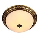 tanie Mocowanie przysufitowe-QIHengZhaoMing 2 światła Podtynkowy Światło rozproszone Mosiądz Metal Szkło 110-120V / 220-240V Ciepła biel / Biały Zawiera żarówkę