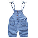 ieftine Pantaloni Băieți-Bebelus Băieți De Bază Zilnic Mată Bumbac / Spandex Salopetă Albastru piscină 80 / Copil