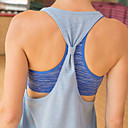 cheap Wedding Wraps-Women's Yoga Built In Bra Tank - Gray, Purple, Blue Sports Top Pilates, Exercise & Fitness, Running Sleeveless Activewear Lightweight, Quick Dry, Breathable Stretchy