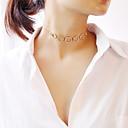 ieftine Colier la Modă-Pentru femei Coliere Choker - Modă Auriu, Argintiu 30 cm Coliere Bijuterii 1 buc Pentru Petrecere, Logodnă, Cadou