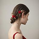 preiswerte Masken-Stoffe Haarkämme mit Blume 1 Stück Hochzeit / Party / Abend Kopfschmuck