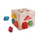 cheap 3D Puzzles-Wooden Puzzle Parent-Child Interaction Wooden 14 pcs Preschool Gift
