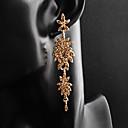tanie Modne kolczyki-Damskie Kolczyki sztyfty - Kwiat Europejskie, Moda Złoty / Srebrny Na Ślub Codzienny