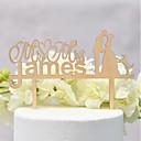 tanie Figurki na tort-Figurki na tort Klasyczny styl / Ślub Miłość Drewno / Bambus Ślub / Rocznica z 1 pcs OPP