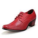 זול נעלי אוקספורד לגברים-בגדי ריקוד גברים נעליים פורמליות עור קיץ נעלי אוקספורד שחור / חום / אדום / בָּחוּץ