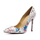 olcso Női magassarkú cipők-Női Cipő Bőr Ősz & tél Magasított talpú Magassarkúak Tűsarok Erősített lábujj Fehér / Esküvő / Party és Estélyi / Szlogen