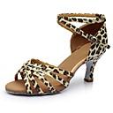 abordables Zapatos de Baile Latino-Mujer Zapatos de Baile Latino Cuero Patentado Sandalia / Tacones Alto Corte Talón grueso Personalizables Zapatos de baile Leopardo