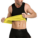 cheap Cycling Underwear & Base Layer-Waist Trainer Corset Vest Tank Top Body Shaper Neoprene No Zipper Hot Sweat Slimming Weight Loss Tummy Fat Burner Exercise & Fitness Gym Workout Workout For Men