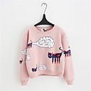 billige Hættetrøjer og sweatshirts til damer-Dame Tynd Bukser - Ensfarvet Hvid
