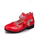 povoljno Cipele za djevojčice-Djevojčice Cipele PU Proljeće ljeto Udobne cipele / Obuća za male djeveruše Ravne cipele Hodanje Mašnica / Svjetlucave šljokice / Drapirano sa strane za Tinejdžer Fuksija / Crvena / Pink