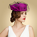 cheap Party Headpieces-Tulle / Wool Felt Hats with Bowknot 1pc Wedding / Party / Evening Headpiece