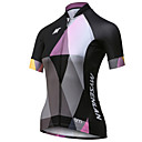 cheap Rhinestone & Decorations-Mysenlan Women's Short Sleeve Cycling Jersey - Black Patchwork Bike Jersey Top, Breathable Quick Dry Polyester / Expert / Advanced Sewing Techniques / Laser-cut Sleeves / Italy Imported Ink