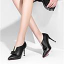 povoljno Ženske ravne cipele-Žene Cipele Mekana koža Ljeto Obične salonke Cipele na petu Stiletto potpetica Krakova Toe Obala / Crn / Braon