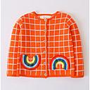 tanie Sukienki dla dziewczynek-Dzieci Dla dziewczynek Moda miejska Kratka Długi rękaw Sweter i kardigan