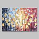 povoljno Ulja na platnu-Hang oslikana uljanim bojama Ručno oslikana - Sažetak / Cvjetni / Botanički Klasik / Moderna Platno