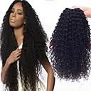 halpa Aitohiusperuukit-3 pakettia Brasilialainen Kihara 8A Aidot hiukset Hiukset kutoo Pidentäjä 8-28 inch Musta Luonnollinen väri Hiukset kutoo kuuma Myynti 100% Neitsyt curling Hiukset Extensions Naisten