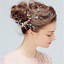 cheap Party Headpieces-Alloy Hair Clip with Imitation Pearl / Floral 1pc Wedding / Party / Evening Headpiece