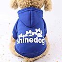 ieftine Esențiale Călătorie Căței-Câini / Pisici / Animale Mici Hanorace cu Glugă / Hanorca / Ținute Îmbrăcăminte Câini Animal / Literă & Număr Rosu / Roz / Negru Bumbac Costume Pentru animale de companie Femeie Sport & Outdoor