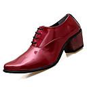 cheap Men's Oxfords-Men's PU(Polyurethane) Fall Comfort Oxfords White / Black / Red