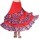 preiswerte Tanzkleidung für Balltänze-Für den Ballsaal Unten Damen Leistung Eis-Seide Muster / Druck / Horizontal gerüscht / Kombination Normal Röcke