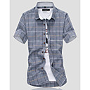 cheap Men's Accessories-Men's Cotton Shirt - Geometric / Short Sleeve