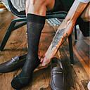 זול אביזרים לנעליים-זוג 1 בגדי ריקוד גברים גרביים Standard משובץ מקל מתחים סגנון מינימליסטי כותנה EU40-EU46