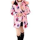 זול שמלות לבנות-בנות בסיסי / סגנון רחוב כותנה מכנסיים - פרחוני מכפלת פרווה / דפוס ורוד מסמיק / ספורט