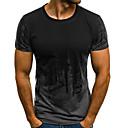 baratos Camisetas para Trilhas-Homens Camiseta Estampa Colorida Decote Redondo / Manga Curta