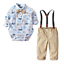 cheap Baby Boys' Clothing Sets-Baby Boys' Solid Colored / Color Block Long Sleeve Clothing Set