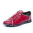 זול סניקרס לגברים-בגדי ריקוד גברים PU סתיו נוחות נעלי ספורט חום / אדום / כחול