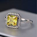 cheap Latin Dancewear-Women's Cubic Zirconia Stack Halo Simulated Ring - Copper Ladies Jewelry Yellow For Wedding Masquerade Engagement Party Prom Date Work 6 / 7 / 8 / 9