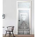 tanie Naklejki ścienne-Naklejki na drzwi - Naklejki ścienne 3D Abstrakcja / Kształty Salon / Sypialnia