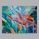 hesapli Avizeler-Hang-Boyalı Yağlıboya Resim El-Boyalı - Çiçek / Botanik Modern Tuval