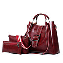 cheap Bag Sets-Women's Bags PU(Polyurethane) Bag Set 3 Pcs Purse Set Zipper Red / Gray / Brown