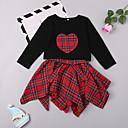 ieftine Set Îmbrăcăminte Bebeluși-Bebelus Fete Dungi / Imprimeu Manșon Lung Set Îmbrăcăminte