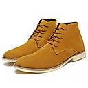 זול נעלי ספורט לגברים-בגדי ריקוד גברים סוויד סתיו נוחות מגפיים שחור / חום / כחול