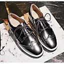 olcso Női Oxford cipők-Női Cipő Lakkbőr Tavasz / Ősz Kényelmes Félcipők Tipegők Fehér / Fekete / Ezüst