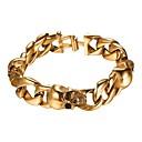cheap Men's Slip-ons & Loafers-Men's Link / Chain Bracelet - Stainless Steel Skull Fashion Bracelet Gold / Black / Silver For Gift Street