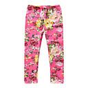 ieftine Pantaloni Fete & Leginși-Copii / Copil Fete Activ / De Bază Floral / Jacquard Bumbac Pantaloni Trifoi 100