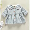 ieftine Set Îmbrăcăminte Bebeluși-Bebelus Fete De Bază Zilnic Mată Manșon Lung Regular Poliester Blazer Roz Îmbujorat 100 / Copil