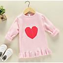 preiswerte Pullover & Strickjacken für Mädchen-Kinder Mädchen Grundlegend Druck Langarm Standard Polyester Pullover & Cardigan Grün