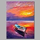 tanie Pejzaże-Hang-Malowane obraz olejny Ręcznie malowane - Krajobraz / Martwa natura Nowoczesny Brezentowy