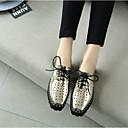 halpa Naisten oxford-kengät-Naisten Kengät Nappanahka Kevät / Kesä Comfort Oxford-kengät Creepers Varpaat peitetty Kulta / Hopea